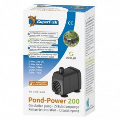 Photo de Pompe à eau bassin Pond Power 200 - 200 l/h chez Zone Aquatique