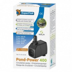 Photo de Pompe à eau bassin Pond Power 400 - 420 l/h chez Zone Aquatique